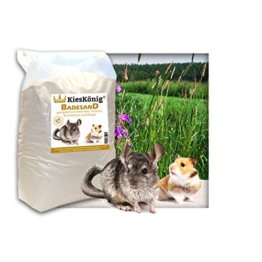 25 kg Premium Chinchilla Badesand Chinchillasand - Made in Germany - samtweiche abgerundete Körnung -