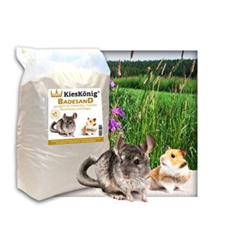 25 kg Premium Chinchilla Badesand Chinchillasand - Made in Germany - samtweiche abgerundete Körnung -