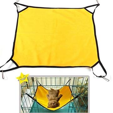 ASIV Komfortable PET Hängematte Hanging Bett für Indoor Outdoor, 50 x 40 x 0,4 cm, Gelb -