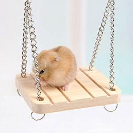 Hrph Hamster Kaninchen Maus Chinchilla Holz hängende Haustier Hängematte Kleine Schaukel Spielzeug Käfig Zubehör -