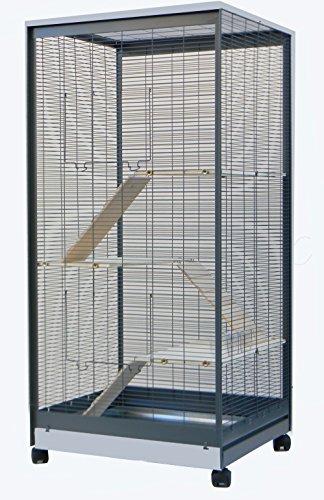 Nagervoliere Käfig für Ratten Chinchilla Degus Frettchen Voliere Top Qualität ! -