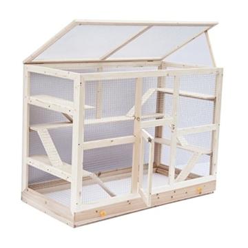 pawhut d2 0058 nager k fig holz schublade natur chinchilla k fig kaufen. Black Bedroom Furniture Sets. Home Design Ideas