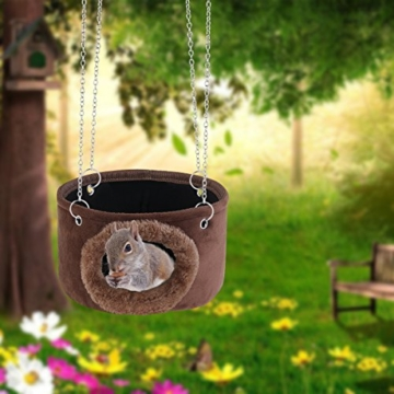 WINOMO Kleines Haustier Hängematte aufhängen Spielzeug kuscheln Hütte für Eichhörnchen Chinchilla Meerschweinchen Ratte Mäuse -