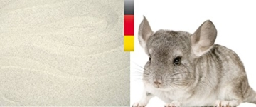 1 kg - 30 kg Chinchilla Sand Badesand - Made in Germany - abgerundete Körnung - 3