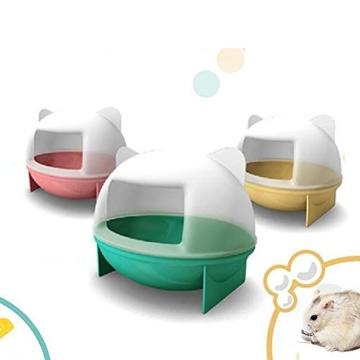 OULII Sandbad Badewanne Badehaus für Maus Chinchilla Ratte Hamster - 3