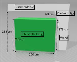 Chinchilla Käfig selber bauen Skizze